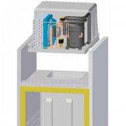Groupe monobloc pour armoire de réfrigération de 1400 l négatif