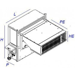 Groupe monobloc étanche pour chambre froide remorque jusqu'à -5°C au R452A